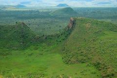Το ηφαιστειακό Hill πολεμιστών ύπνου κρατήρων, Naivasha, Rift Valley, Κένυα Στοκ Εικόνες