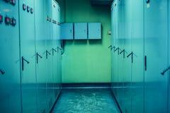 Το ηλεκτρικό γραφείο στο θάλαμο ελέγχου Στοκ Εικόνα