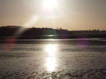 Το ηλιοβασίλεμα αστράφτει στοκ εικόνες