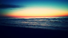 Το ηλιοβασίλεμα θάλασσας Στοκ Εικόνες