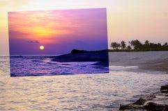 Το ηλιοβασίλεμα νησιών Στοκ Εικόνες