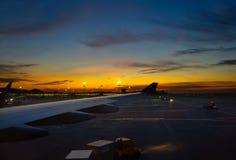 Το ηλιοβασίλεμα πριν από παίρνει Στοκ φωτογραφία με δικαίωμα ελεύθερης χρήσης