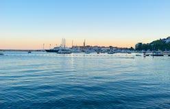 Το ηλιοβασίλεμα σε Budva Στοκ Φωτογραφία