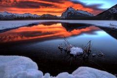 Το ηλιοβασίλεμα τοποθετεί Rundle Στοκ φωτογραφία με δικαίωμα ελεύθερης χρήσης