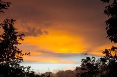 Το ηλιοβασίλεμα Khao χτύπησε το Hill, Phuket Στοκ Φωτογραφίες