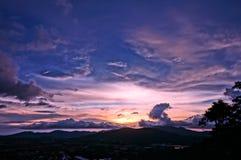 Το ηλιοβασίλεμα Khao χτύπησε το Hill, Phuket Στοκ Εικόνα