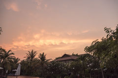 Το ηλιοβασίλεμα Siem συγκεντρώνει την Καμπότζη Στοκ φωτογραφία με δικαίωμα ελεύθερης χρήσης