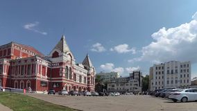 Το θέατρο δράματος στη Samara στη Ρωσία απόθεμα βίντεο