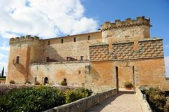 Το θαυμάσιο Castle Buen Amor Topas, Σαλαμάνκα, Ισπανία Στοκ Φωτογραφίες