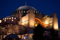 Το θαυμάσιο Hagia Sophia τή νύχτα, Ιστανμπούλ, Τουρκία Στοκ φωτογραφίες με δικαίωμα ελεύθερης χρήσης