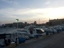 Το θαλάσσιο σκάφος του απογεύματος στοκ φωτογραφίες με δικαίωμα ελεύθερης χρήσης