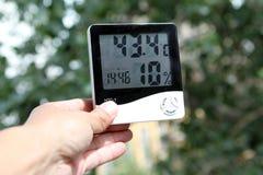 Το θερμόμετρο Στοκ φωτογραφίες με δικαίωμα ελεύθερης χρήσης