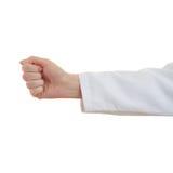Το θηλυκό γιατρών παραδίδει απομονωμένο το λευκό υπόβαθρο Στοκ εικόνες με δικαίωμα ελεύθερης χρήσης