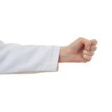Το θηλυκό γιατρών παραδίδει απομονωμένο το λευκό υπόβαθρο Στοκ φωτογραφία με δικαίωμα ελεύθερης χρήσης