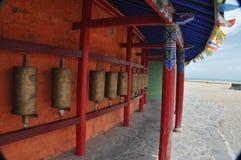 Το Θιβέτ γυρίζει τα βαρέλια Στοκ Εικόνες