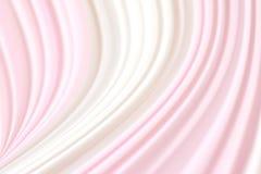 Το θολωμένο υπόβαθρο κυμάτων υφάσματος ρόδινο άσπρο μαλακό, σκηνικό κουρτινών θόλωσε το ρόδινο άσπρο κύμα υφάσματος για το γαμήλι Στοκ Φωτογραφίες