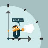 Το διάνυσμα απεικόνισης της χαλάρωσης επιχειρηματιών κινούμενων σχεδίων, παίρνει έναν χρόνο σπασιμάτων Απεικόνιση αποθεμάτων