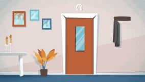 Το διάνυσμα εισόδων εγχώριων κύριων πορτών για τα κινούμενα σχέδια, ζωτικότητα, διαφημίζει, Στοκ εικόνα με δικαίωμα ελεύθερης χρήσης