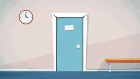 Το διάνυσμα εισόδων εγχώριων κύριων πορτών για τα κινούμενα σχέδια, ζωτικότητα, διαφημίζει, Στοκ φωτογραφία με δικαίωμα ελεύθερης χρήσης