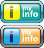 Το διάνυσμα κουμπιών πληροφοριών μου Στοκ Εικόνες