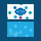 Το διάνυσμα που συνδέεται διαστίζει το οριζόντιο σχέδιο πλαισίων Στοκ Εικόνες