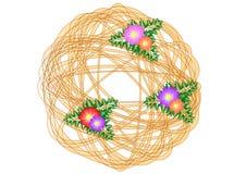 Το διάνυσμα του στρογγυλού λουλουδιού Στοκ εικόνες με δικαίωμα ελεύθερης χρήσης