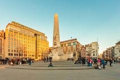 Το διάσημο κεντρικό τετράγωνο φραγμάτων στο Άμστερνταμ, οι Κάτω Χώρες Στοκ Φωτογραφίες