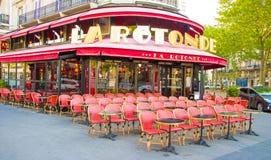 Το διάσημο Λα Rotonde, Παρίσι, Γαλλία καφέδων Στοκ εικόνες με δικαίωμα ελεύθερης χρήσης