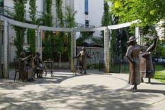 Το διάσημο aka πέντε αγαλμάτων, Κάλγκαρι, Καναδάς Στοκ εικόνα με δικαίωμα ελεύθερης χρήσης