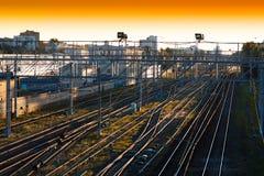 Το διαγώνιο ηλιοβασίλεμα πιέζει το υπόβαθρο Στοκ Φωτογραφίες