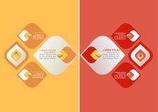 Το διακοσμητικό στοιχείο σχεδίων της Ταϊλάνδης για το σχέδιο ή την παρουσίαση Infographic και το διάγραμμα για συγκρίνουν τις πλη Στοκ φωτογραφία με δικαίωμα ελεύθερης χρήσης