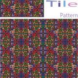 Το διανυσματικό άνευ ραφής άσπρο γεωμετρικό πρωτόγονο τετράγωνο εμποδίζει το ελαφρύ κτύπημα πλέγματος Στοκ Εικόνες