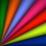 Το διανυσματικό αφηρημένο ουράνιο τόξο έκαμψε την απεικόνιση υποβάθρου - αφηρημένα διαδίδοντας τόξα υποβάθρου ουράνιων τόξων ζωηρ Στοκ Εικόνες