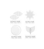 Το διανυσματικό αφηρημένο πλέγμα, κύκλος, λουλούδι, πέταλα, εικονίδια λογότυπων σχεδίων πλέγματος μορφών κύκλων έθεσε για την ετα στοκ εικόνες