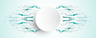 Το διανυσματικό αφηρημένο υπόβαθρο παρουσιάζει την καινοτομία της τεχνολογίας και των εννοιών τεχνολογίας Στοκ Εικόνες