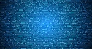 Το διανυσματικό αφηρημένο υπόβαθρο παρουσιάζει την καινοτομία της τεχνολογίας και των εννοιών τεχνολογίας Στοκ Φωτογραφίες