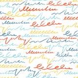 Το διανυσματικό ζωηρόχρωμο άνευ ραφής σχέδιο με τη βούρτσα κτυπά την επιστολή fractal λουλουδιών φαντασίας καλοκαίρι εικόνας Χρώμ απεικόνιση αποθεμάτων