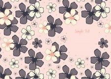 Το διανυσματικό πρότυπο με το floral σχέδιο με το ρόδινο άνθος κερασιών ανθίζει στο ρόδινο υπόβαθρο Στοκ Εικόνες