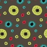 το διανυσματικό σχέδιο Doodle ανθίζει τους κύκλους απεικόνιση αποθεμάτων