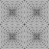 Το διανυσματικό σύγχρονο άνευ ραφής σχέδιο γεωμετρίας τακτοποιεί την τρισδιάστατη, γραπτή περίληψη Στοκ Φωτογραφία