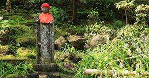 Το ιαπωνικό άγαλμα στον παραδοσιακό σε Hokokuji σε Kamakura φορητό φιλμ μικρού μήκους