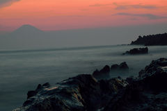 Το ιαπωνικό νησί & τοποθετεί το Φούτζι στοκ εικόνες