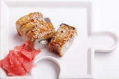 Το ιαπωνικό σούσι κουζίνας κυλά τη μακροεντολή Στοκ εικόνα με δικαίωμα ελεύθερης χρήσης