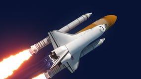 Το διαστημικό λεωφορείο απογειώνεται διανυσματική απεικόνιση