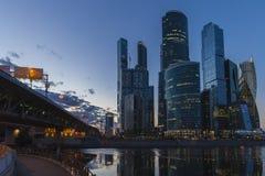 Το διεθνές εμπορικό κέντρο της Μόσχας city day kremlin moscow outdoor ουρανοξύστες βράδυ Στοκ φωτογραφία με δικαίωμα ελεύθερης χρήσης