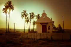 Το ιερό διαγώνιο παρεκκλησι, Anjuna, Goa, Ινδία Στοκ Εικόνες