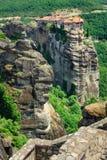 Το ιερό μοναστήρι Varlaam, Meteora, Ελλάδα Στοκ Εικόνες