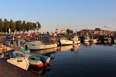 Το λιμάνι από Burgstaaken στο νησί Fehmarn & x28 Γερμανία, βαλτικό Sea& x29  Στοκ Εικόνες