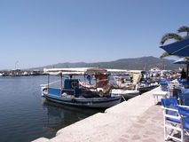 Το λιμάνι σε Skala Kalloni Λέσβος Ελλάδα στοκ φωτογραφία με δικαίωμα ελεύθερης χρήσης