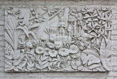 το ινδονησιακό s σμιλεύει τον τοίχο Στοκ Εικόνα